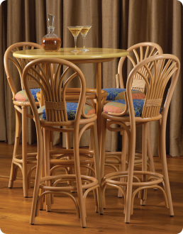 Bentwood Bar Stools And High Table