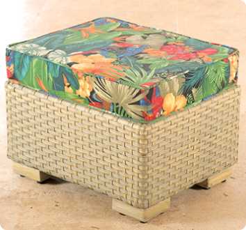 Woven Foot Stool 50x50